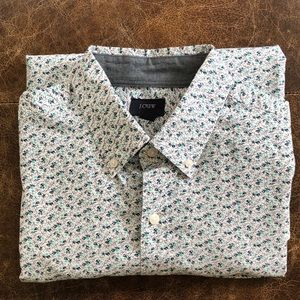 J. Crew men's medium floral shirt